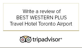 tripadvisor Write a review of Best Western Plus Travel Hotel Toronto Airport logo